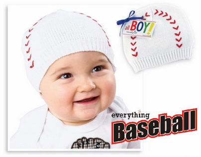 White Baseball Knit Cap