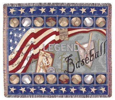 "Baseball Legend 50"" x 60"" Tapestry Throw Blanket"