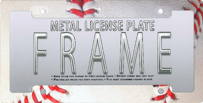 Baseball License Plate Frame<br>ONLY 3 LEFT!