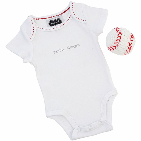 Baseball little slugger Crawler and Rattle Set