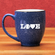 Baseball Love Etched 15oz Blue Bistro Mug<br>2 DESIGNS!