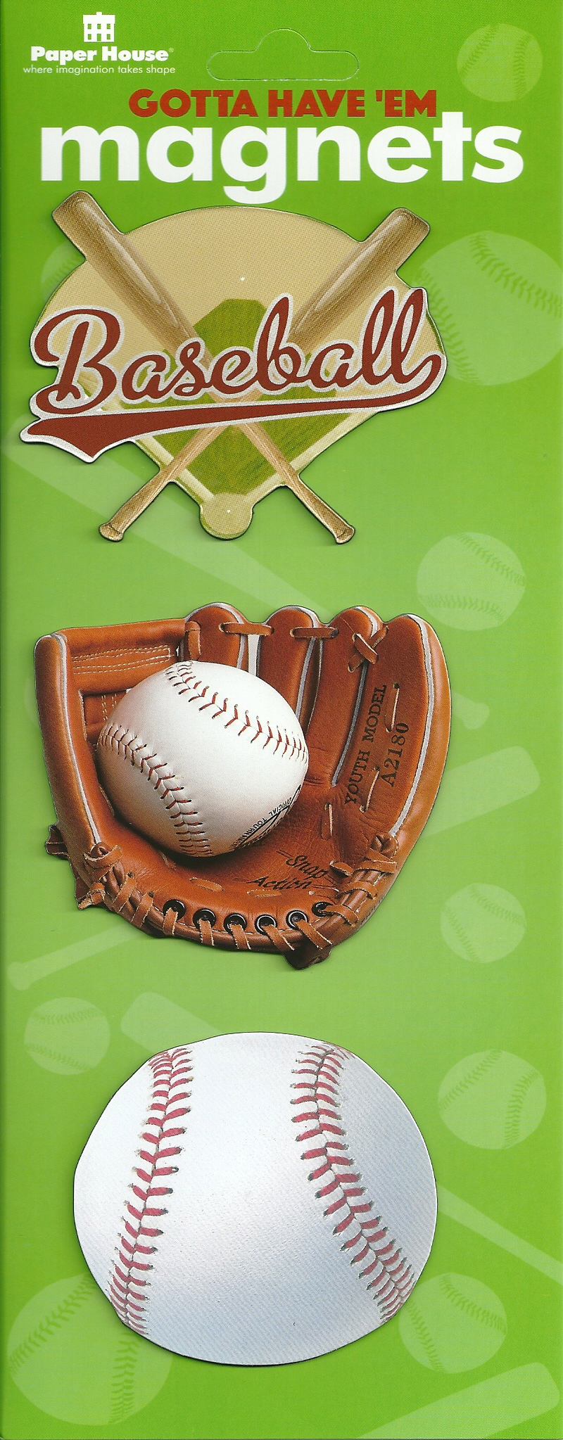 Baseball Magnet Set