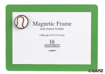 Baseball Magnetic Frame and Memo Holder