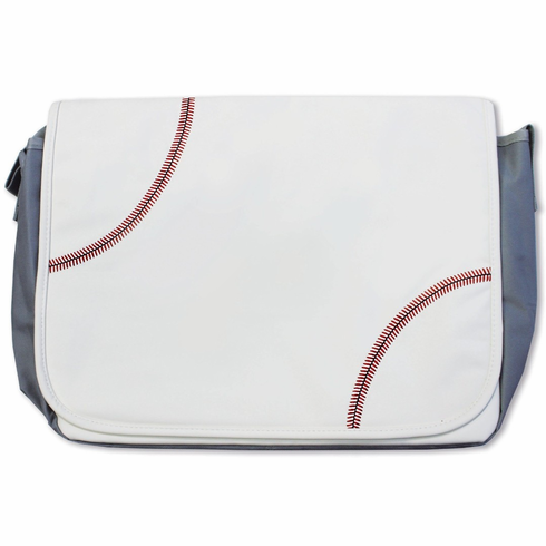 White Baseball Messenger Bag