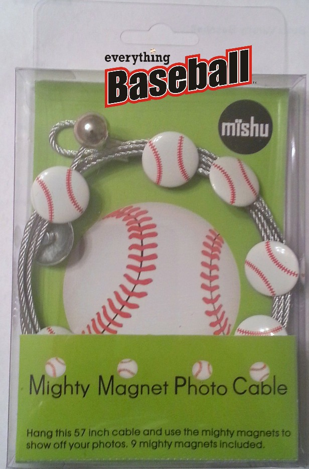 Baseball Mighty Magnet Photo Cable