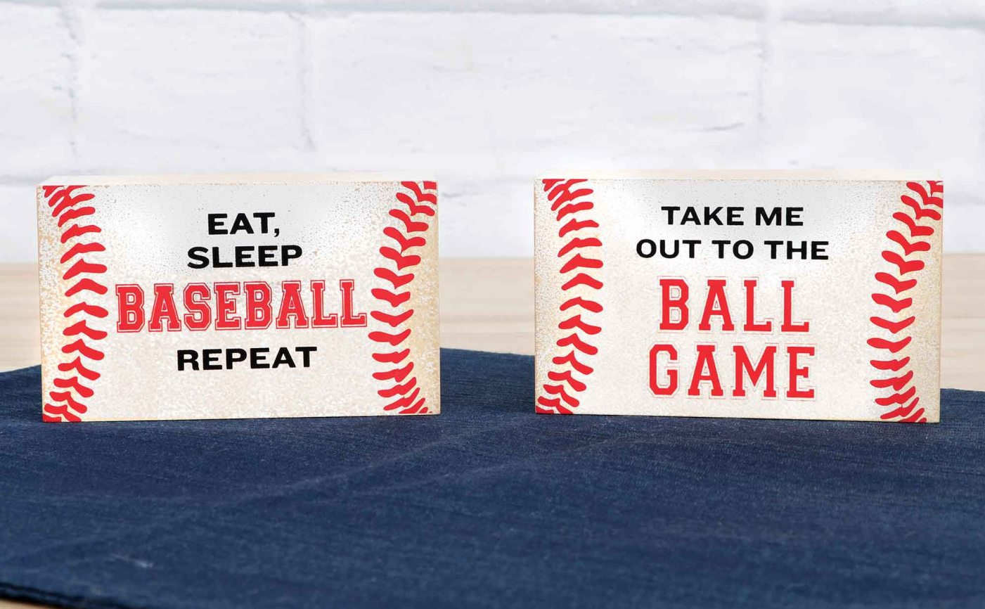 Baseball Mini Box Signs