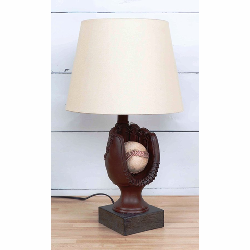 WEEKLY SPECIAL #5<br>Baseball Mitt Resin Table Lamp<br>ONLY 2 LEFT!