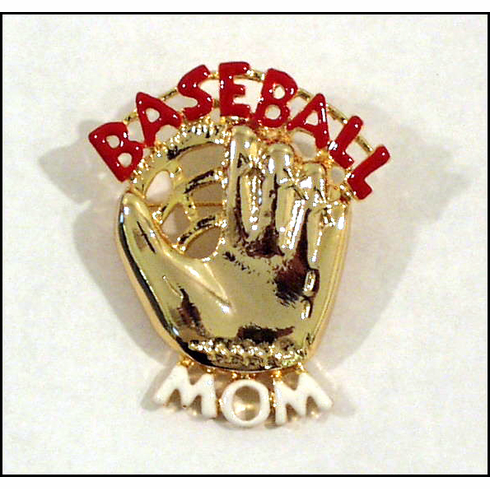Baseball Mom Glove Pin