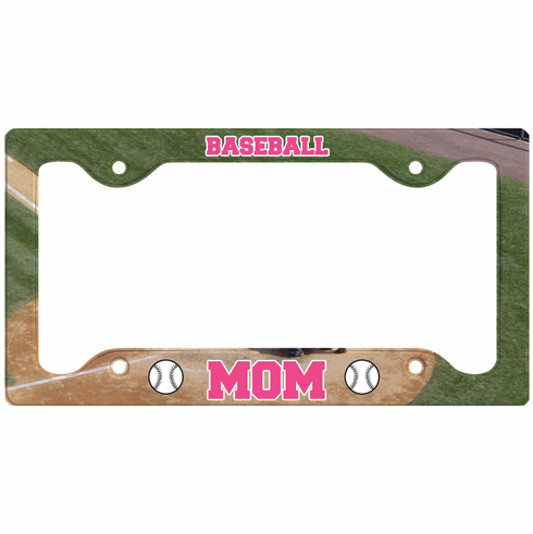 Baseball Mom License Plate Holder