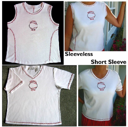 Baseball Mom S/M Short Sleeve White Tee<br>ONLY 1 LEFT!