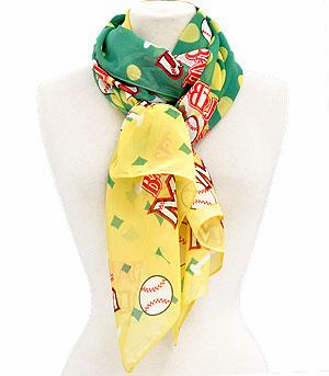 Baseball Mom Scarf - Green<br>ONLY 2 LEFT!