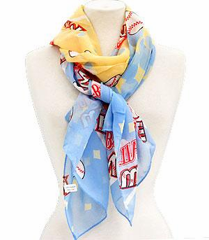 Baseball Mom Scarf - Light Blue<br>ONLY 4 LEFT!