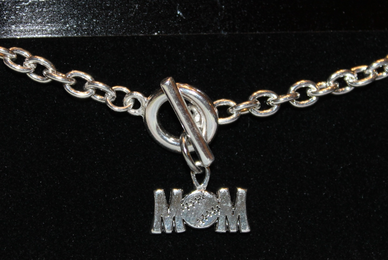 Baseball MOM Toggle Bracelet