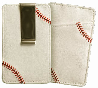White Baseball Money Clip