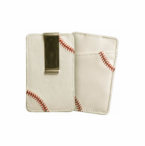 WEEKLY SPECIAL #8<br>White Baseball Money Clip