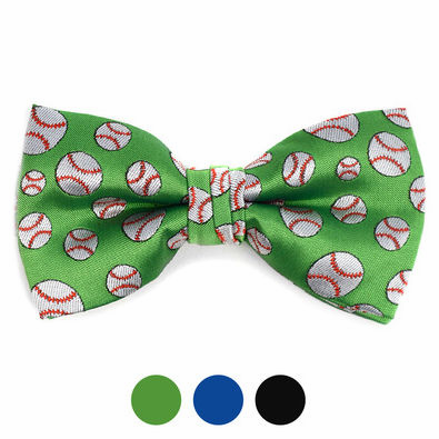 Baseball Pattern Men's Polyester Bow Ties<br>3 COLORS!