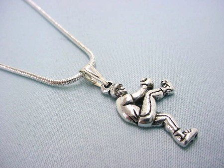 Baseball Pitcher Necklace