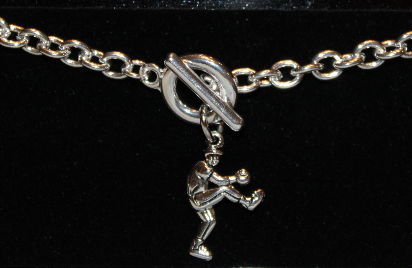 Baseball Pitcher Toggle Bracelet