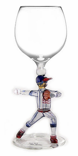 Baseball Pitcher Wine Glass<br>ONLY 6 LEFT!