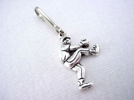 Baseball Pitcher Zipper Pull