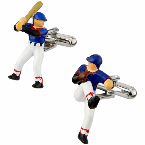 Baseball Player Cufflinks<br>ONLY 4 SETS LEFT!
