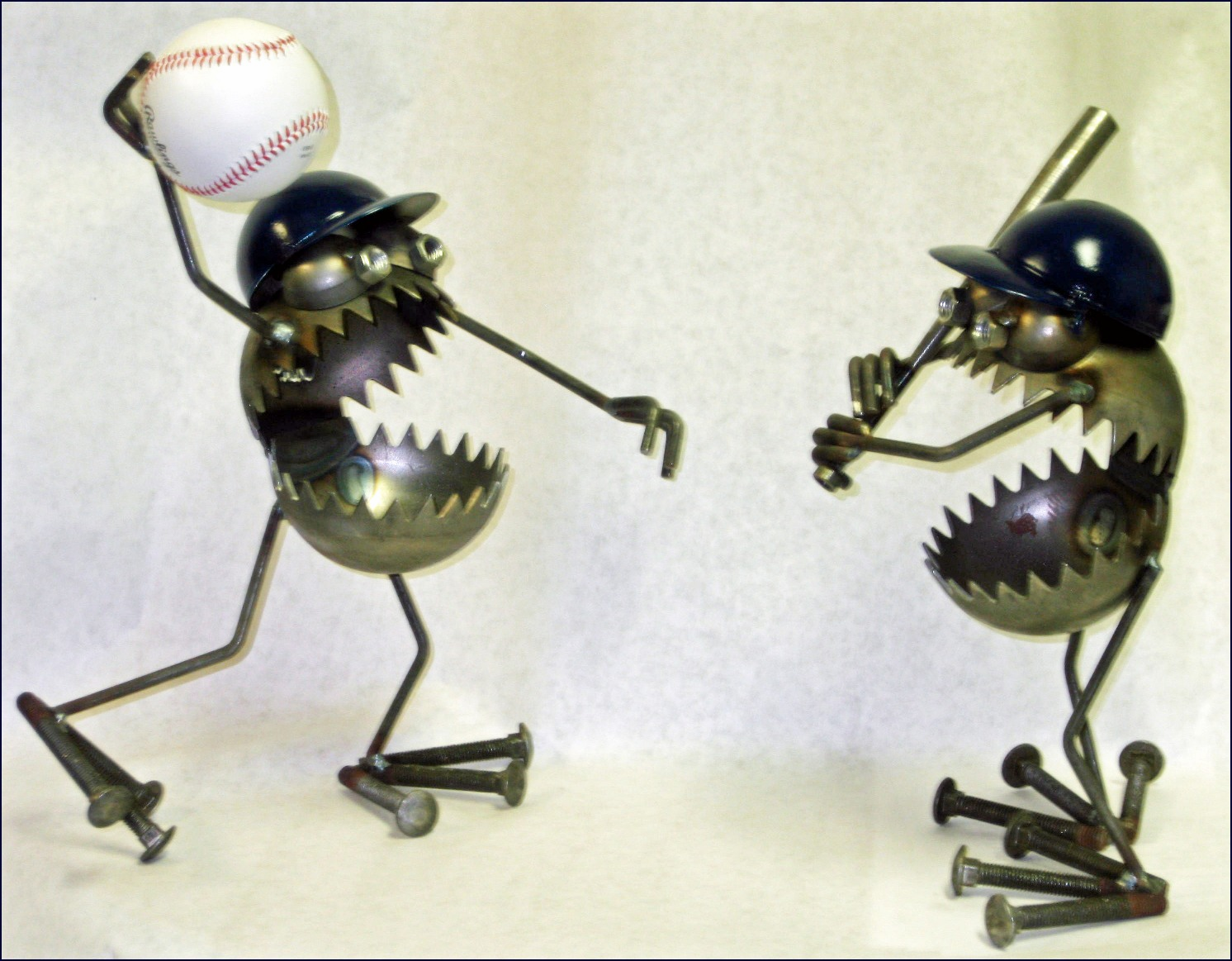 Baseball Player Metal Art