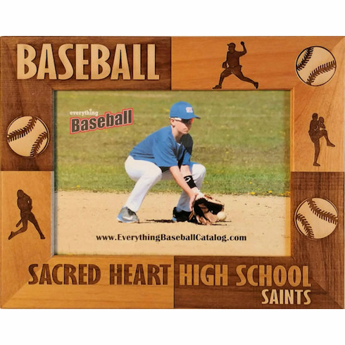 Baseball Players Personalized Photo Frame<br>3 SIZES!