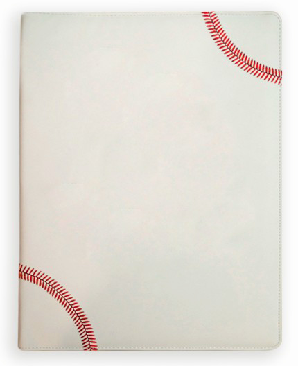 White Baseball Portfolio<br>ONLY 2 LEFT!