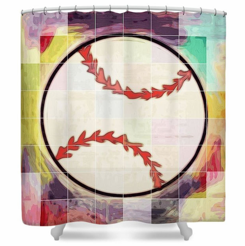 Baseball Ready Shower Curtain