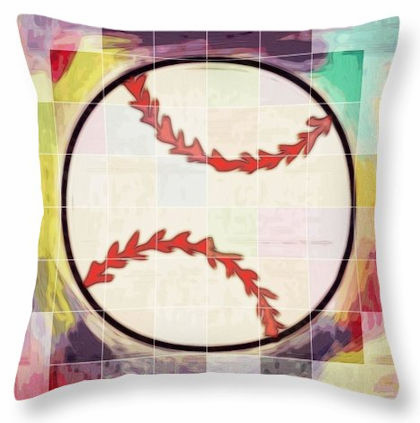 Baseball Ready Square Pillow<br>5 SIZES AVAILABLE!
