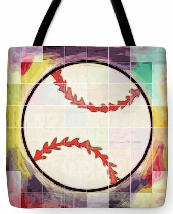 Baseball Ready Tote Bag<br>3 SIZES AVAILABLE!