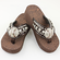 Baseball Rhinestone Coffee Flip-Flop Sandals<br>SIZE 6 OR 11
