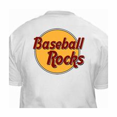 Baseball Rocks T-Shirt<br>GRAY SMALL or WHITE SMALL