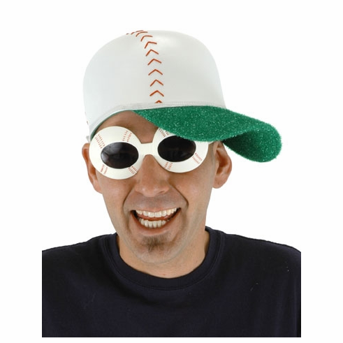 Baseball Shaped Plastic Sunglasses<br>ONLY 1 LEFT!