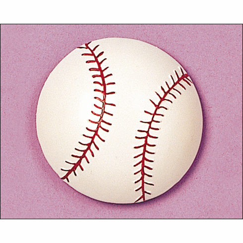 Baseball Shaped Rubber Magnet