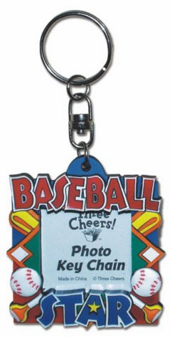 Baseball Star Photo Key Chain or Magnet