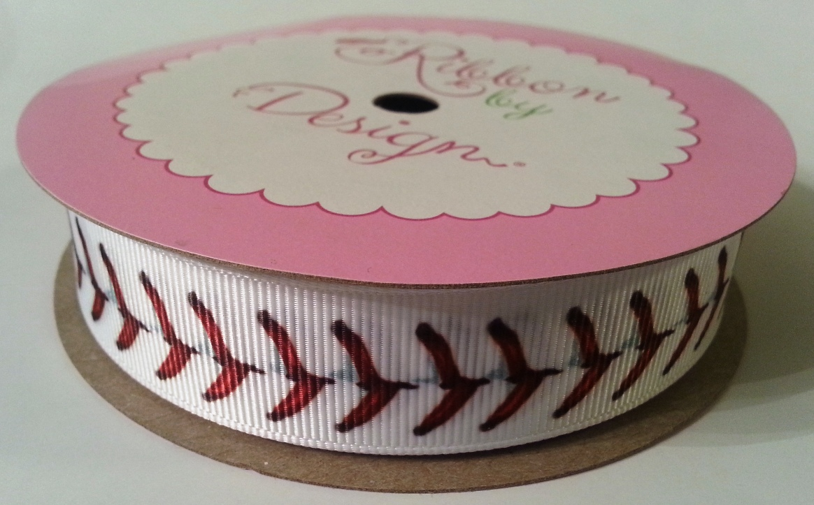 Baseball Stitch Grosgrain Ribbon - 2 SIZES!