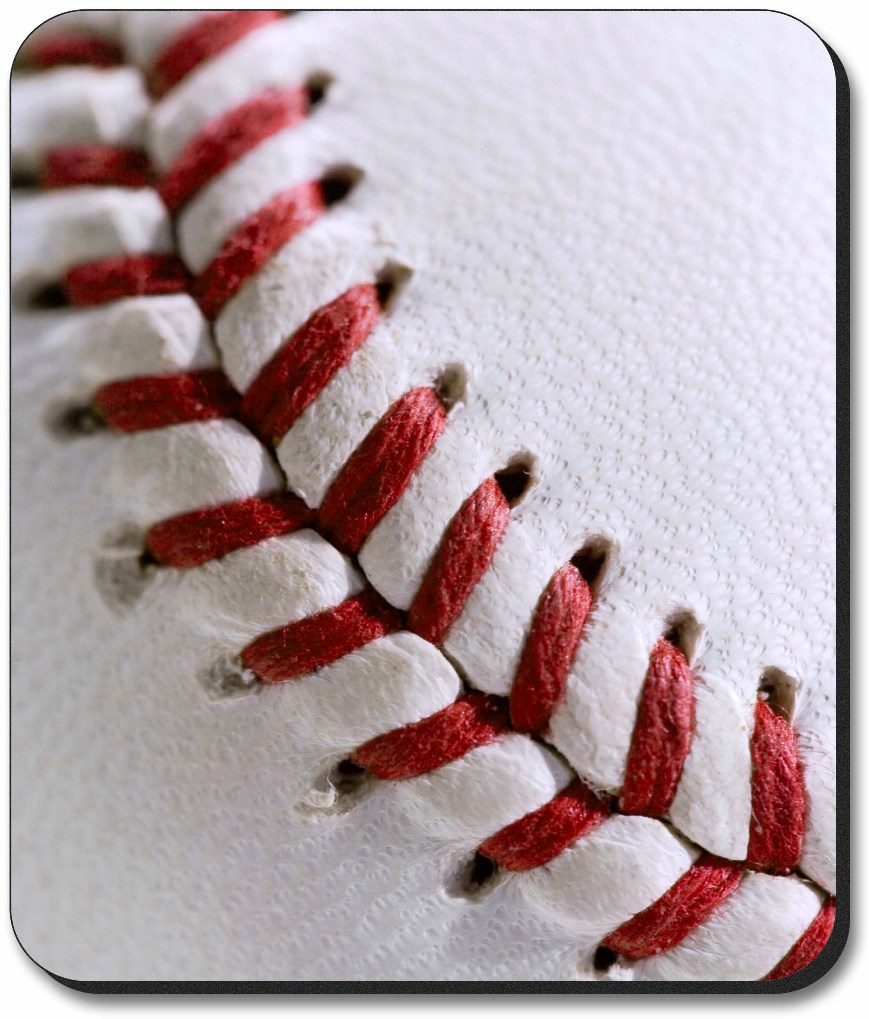 Baseball Stitch Mouse Pad