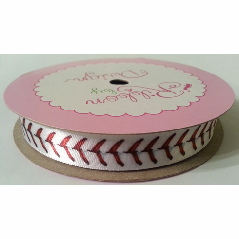 Baseball Stitch Satin Ribbon