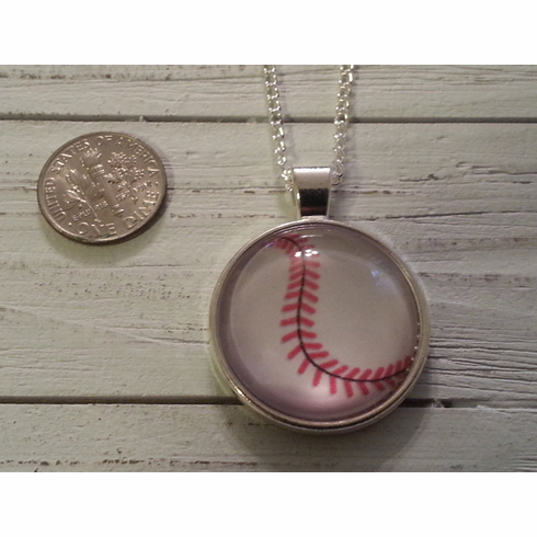$3 $5 $7 SALE!<br>Baseball Stitch Silver Necklace