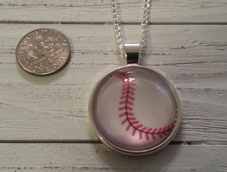 Baseball Stitch Silver Necklace