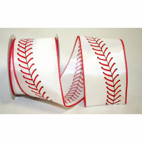 Baseball Stitch Wire Edged Ribbon