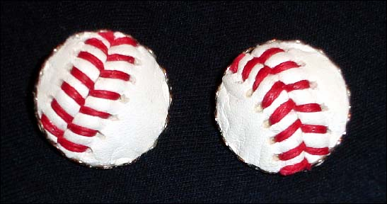 Baseball Stitches Clip-On Earrings