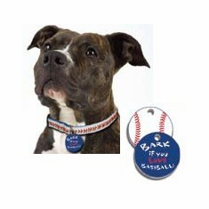 Baseball Stitches Dog Collar