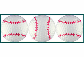 Baseball Stitches Golf Ball Sleeve