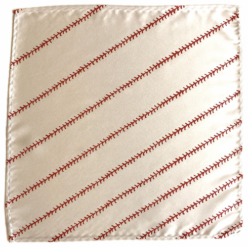 Baseball Stitching Pocket Square<br>ONLY 2 LEFT!