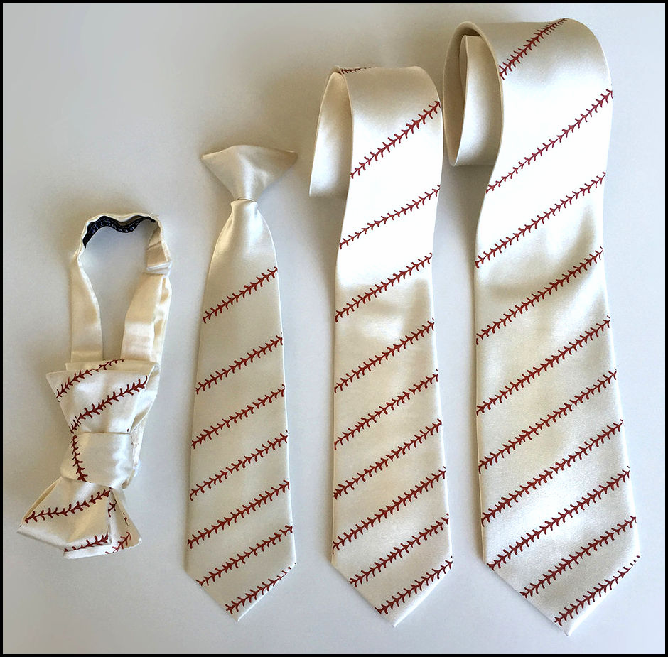 Baseball Stitching Ties
