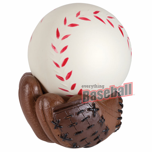 Baseball Stress Ball with Glove Stand<br>LESS THAN 6 LEFT!