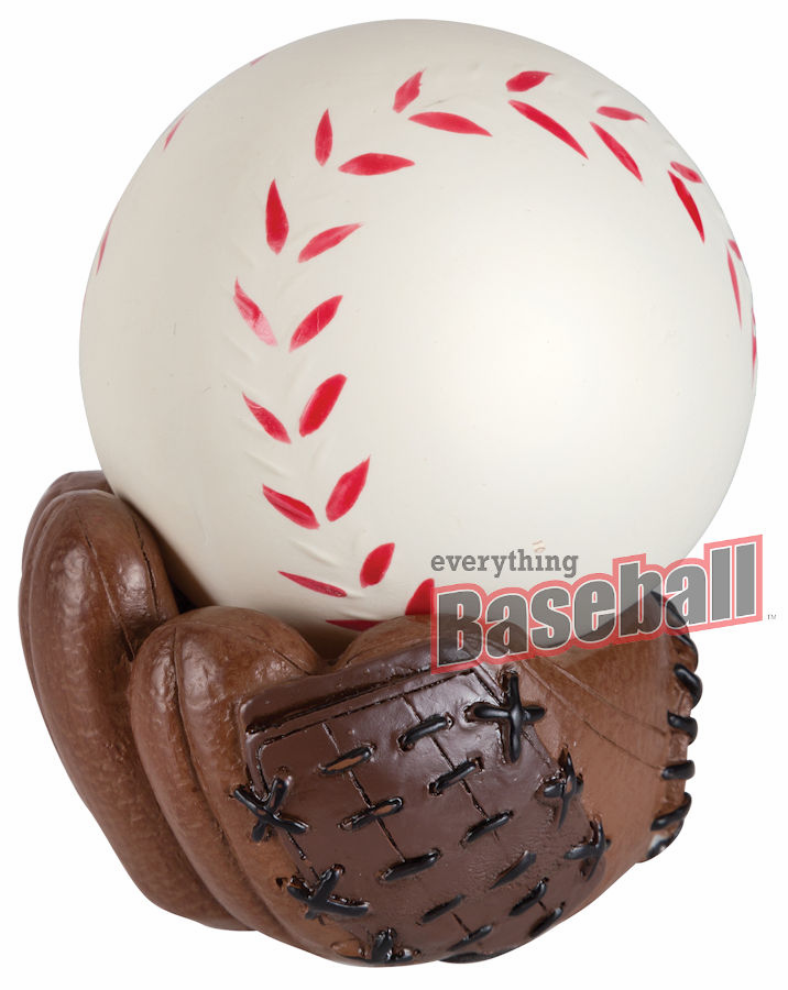 Baseball Stress Ball with Glove Stand