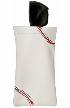 White Baseball Sunglass Pouch